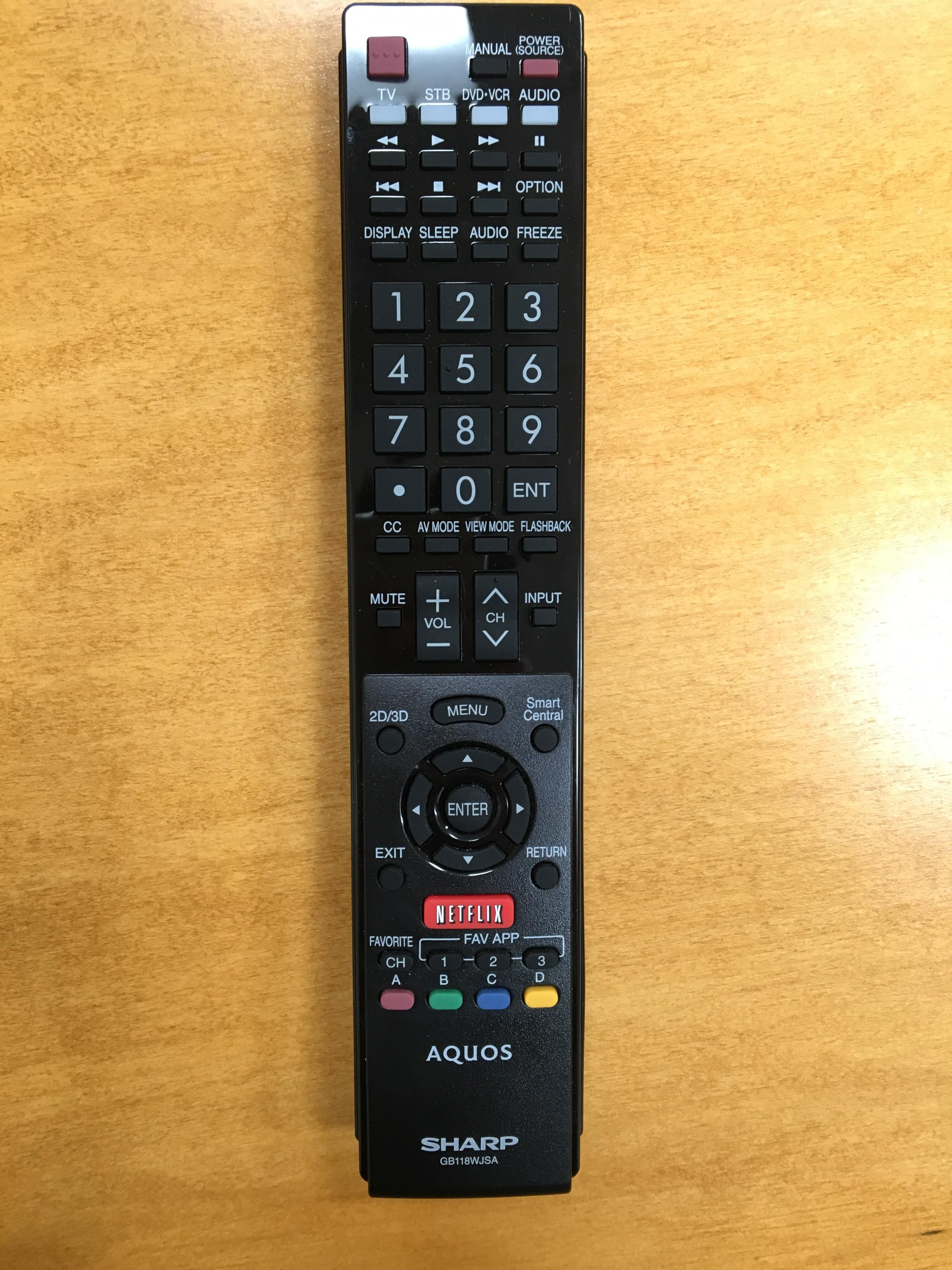 Remote control for display